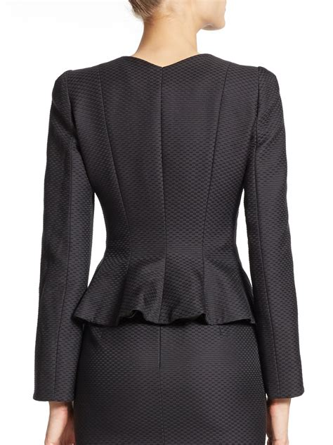 Peplum Jacket lyst armani matelass 233 peplum jacket in black