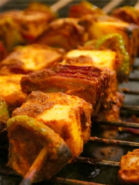 Grilled Cottage Cheese by Paneer Tikka Spicy Grilled Cottage Cheese Sonik S Kitchen