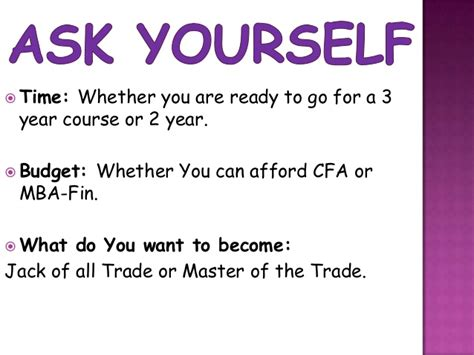 Cfa And Mba Masters Courses by Chartered Financial Analyst Vs Mba Finance