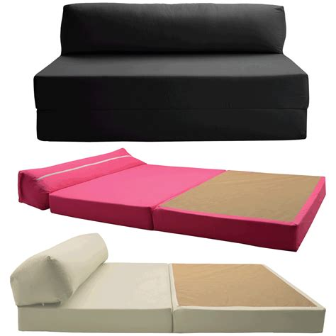 Sofa Bed Foam Details About Sofabed Chair Bed Z Guest Fold Out Futon Sofa Chairbed Matress Foam Gilda