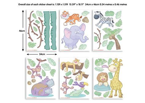 Wandsticker Kinderzimmer by Wandsticker Kinderzimmer Baby Dschungel Tiere Safari