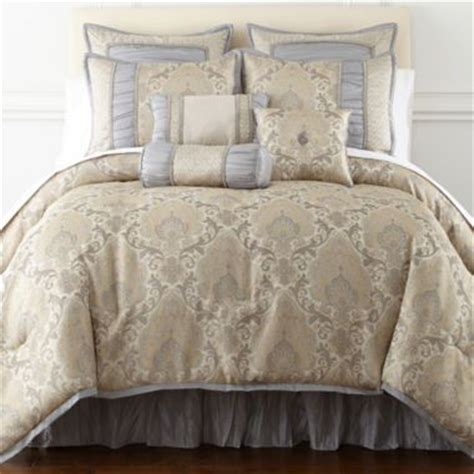 chelsea upholstered bed found at jcpenney master home expressions kingston 7 pc damask comforter set