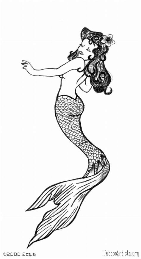 doodle name ega simple mermaid design tattooshunt