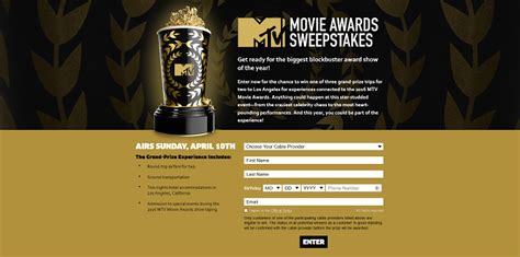 Game Awards 2016 Giveaway - 2016 mtv movie awards sweepstakes