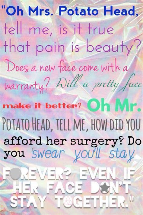 Potato Lyrics by Melanie Martinez Mrs Potato A Well Dr Who And Lyrics