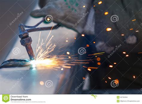 worker cutting steel pipe using metal stock photo 380191102 worker cutting steel pipe using metal torch and install roadside stock photo image of industry