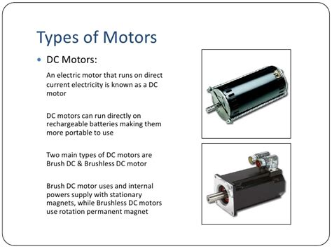 dc motor types introduction to electric motors
