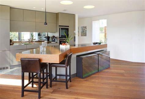 mod鑞e de cuisine avec ilot central ilot cuisine table a manger cuisine by architecte
