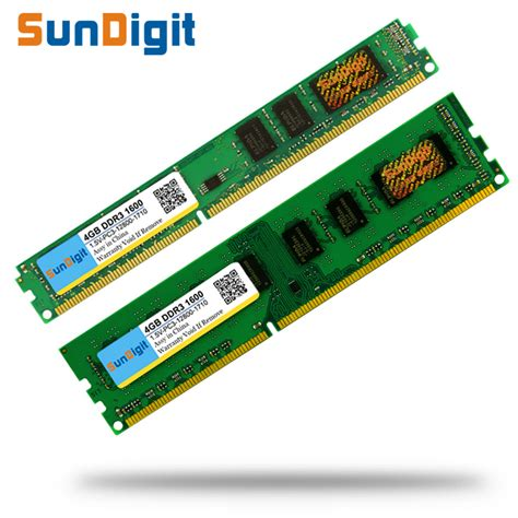 Ram Ddr3 Sun brand sundigit memory ram 1 5v ddr3 1600mhz 8gb 4gb 2gb for desktop memoria pc3 12800 4gb