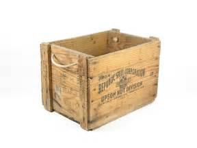 vintage wooden crate wood box handles by bridgewoodplace