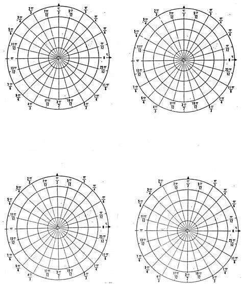 polar template paper polar graph paper