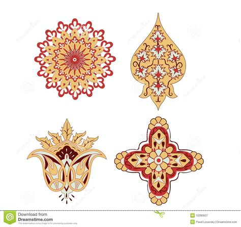 oriental design elements vector oriental elements rosace vector stock vector image 10390637