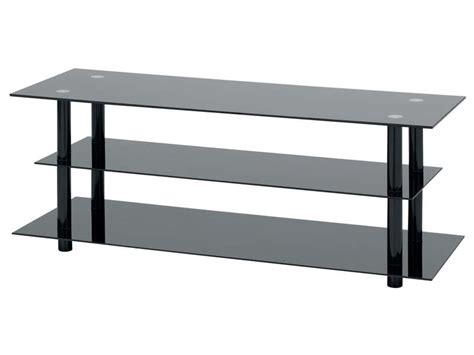 table tele en verre meuble tv bas verre