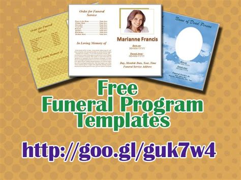 funeral program templates free downloads free funeral program templates for microsoft word to