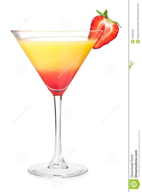 layered alcohol cocktail  strawberry stock photo