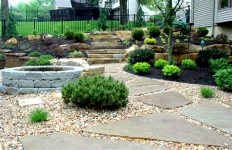 simple backyard landscaping ideas stone landscape design