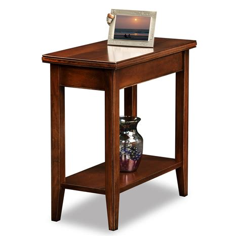 narrow accent tables leick 10505 laurent narrow chairside end table atg stores