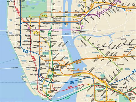 subway maps nyc best coffee shops by subway stop business insider
