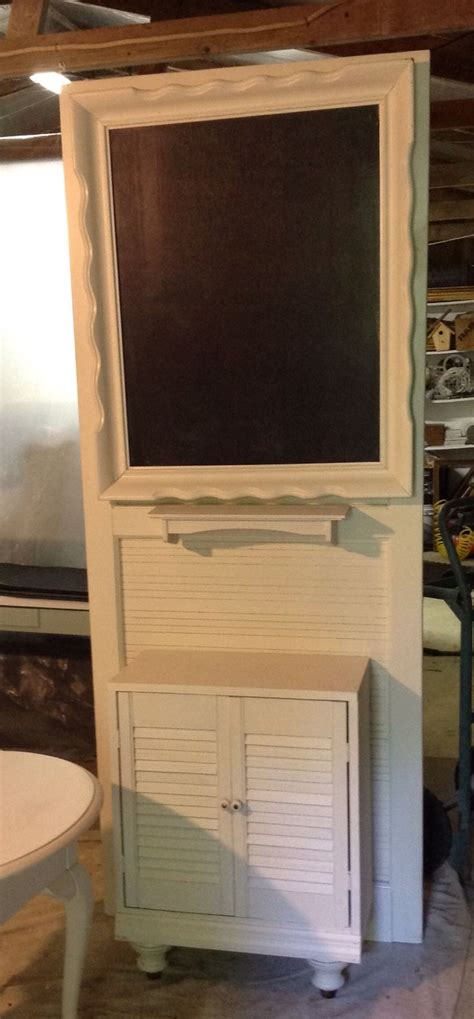 upcycled screen door picture frame with chalk board