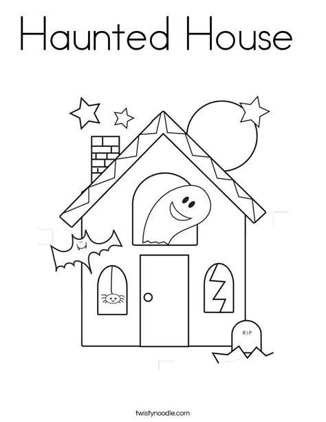 free printable haunted house template haunted house coloring page twisty noodle