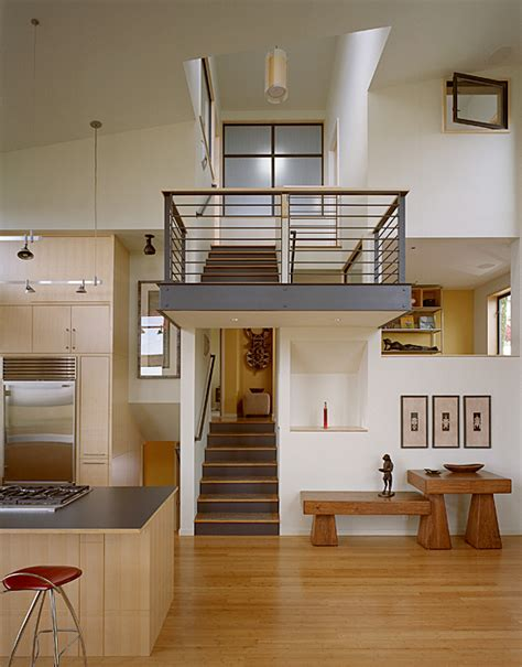 split level house interior modern remodel of the post war split level house into a
