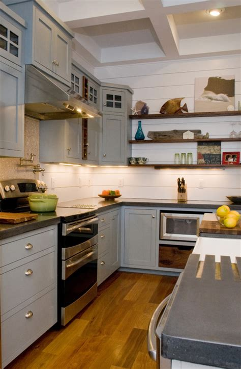 this kitchen what is the backsplash wall wood