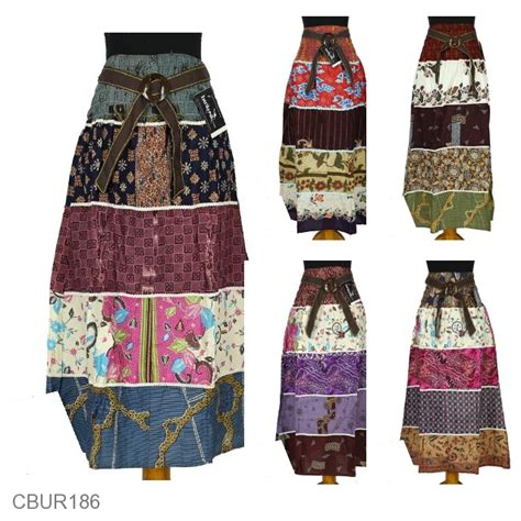 Rok Batik Murah Bahan Katun baju batik rok panjang katun motif perca bawahan rok