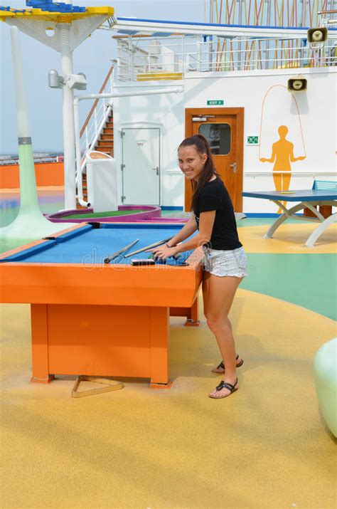 Pool Table Magic by Cruise Ship Stock Photo Image 58575977