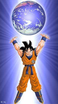 imagenes de goku haciendo la genkidama goku dominador del mundo anime zone dragon ball