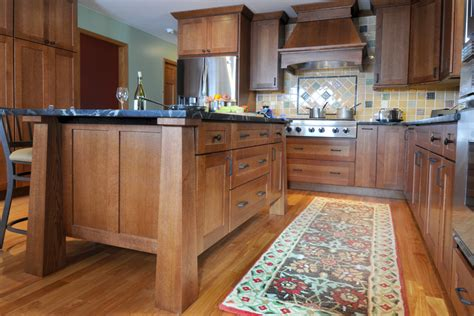 mission style kitchen island medium maple stained kitchen cabinets kitchen remodel