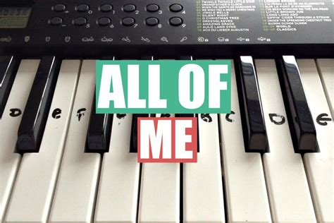 tutorial keyboard all of me all of me john legend easy keyboard tutorial with