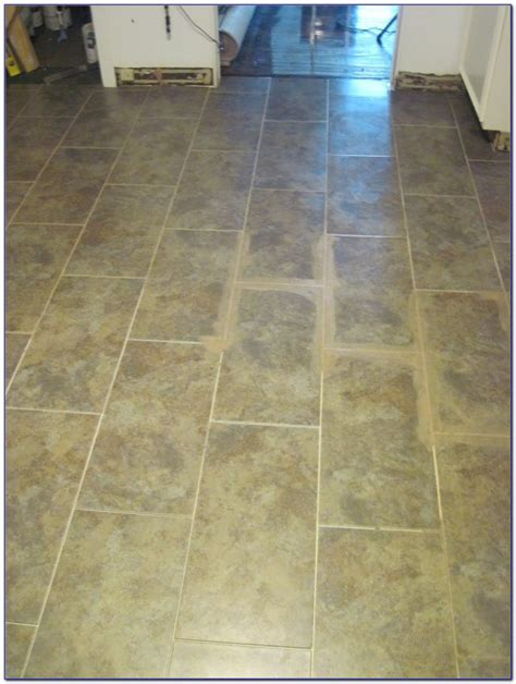 vinyl tile with grout over linoleum tiles home design