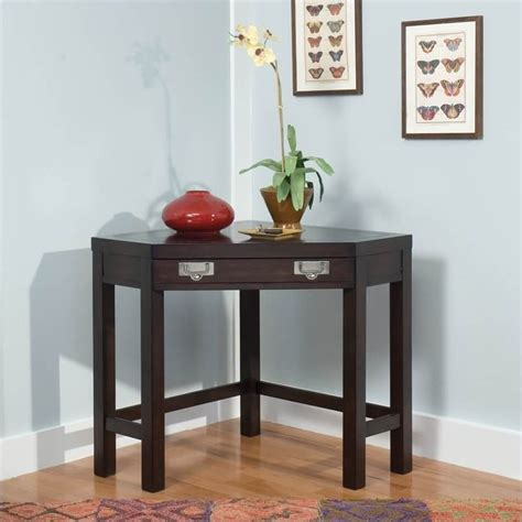 corner laptop desk occasional table in espresso 5536 17