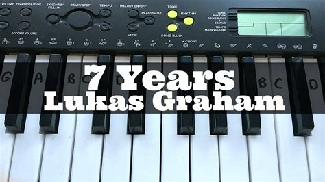 tutorial on keyboard 7 years lukas graham easy keyboard tutorial with notes