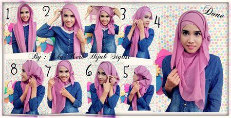 tutorial jilbab paris berkacamata tutorial hijab paris catatan ratni