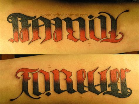 ambigram family forever flickr photo sharing