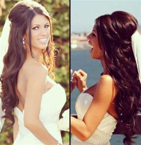 half up half down hairstyles for really long hair 25 hair styles for brides long hairstyles 2016 2017