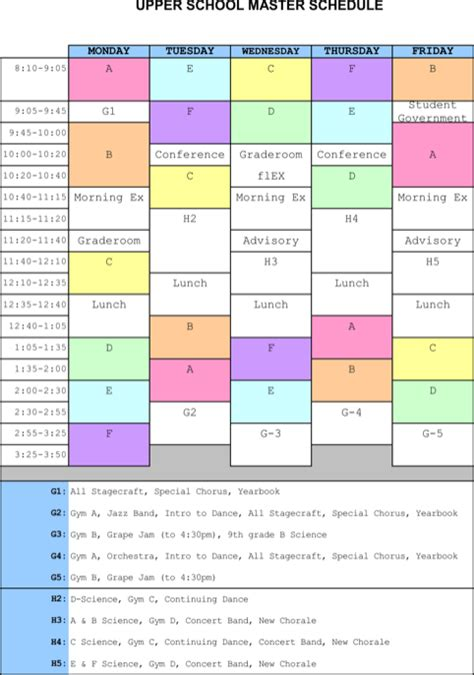 master schedule template master schedule templates for excel pdf and word