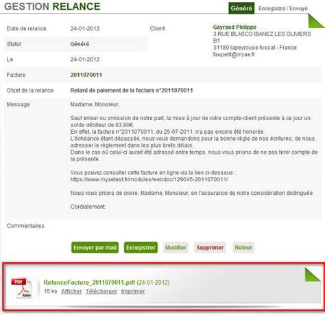 Modele Relance Client
