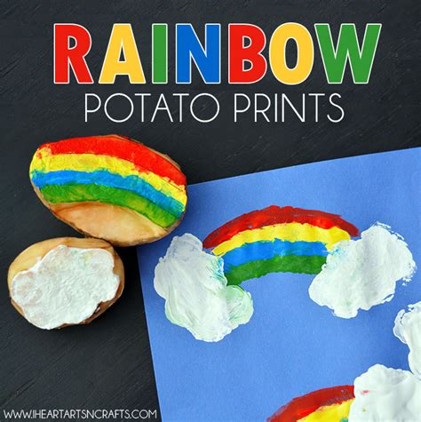 arts n crafts rainbow potato printing craft i arts n crafts