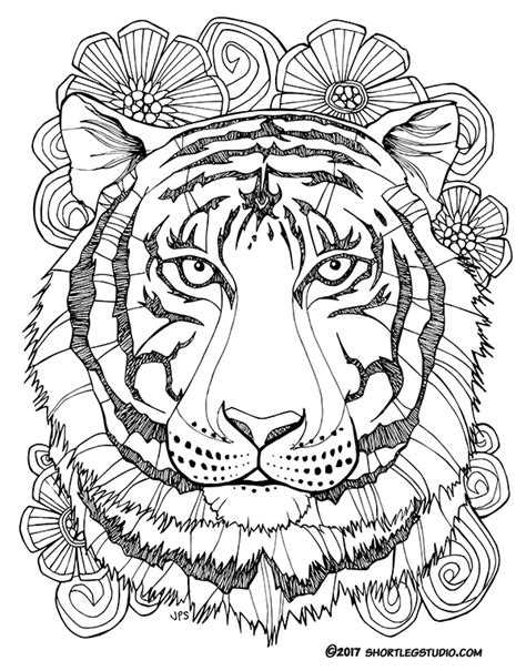 tiger mandala coloring pages new tiger coloring sheets short leg studio