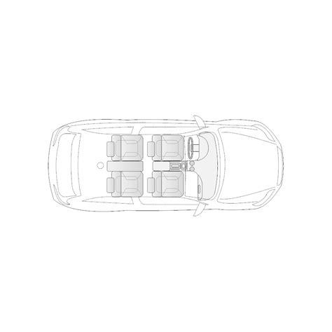 vehicle diagram 2 door compact car