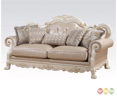 gold loveseat dresden formal button tufted sofa loveseat in antique