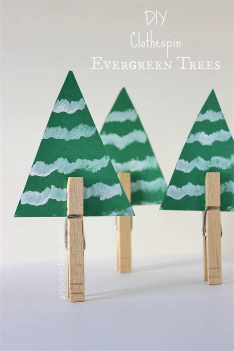 Clothespin Decorations by Evergreen Tree Decorations Made From Clothespins
