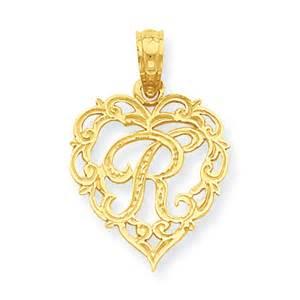 Amazon 14k Gold W Script Initial in Heart Pendant Jewelry R Alphabet Love Wallpaper