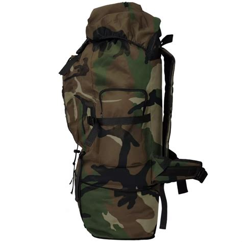 Camouflage Backpack vidaxl co uk vidaxl army style backpack 100 l camouflage