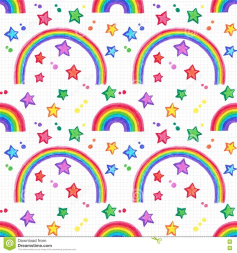 rainbow pattern doodle hand drawn seamless pattern with symbols of peace cartoon