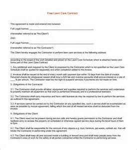 Contracts my ideas lanscape landscaping maintenance contract samples