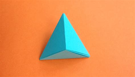 How To Make 3d Triangle With Paper - origami triangle pyramid step studio design gallery