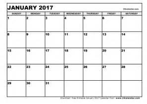 january 2017 calendar 2017 calendar printables